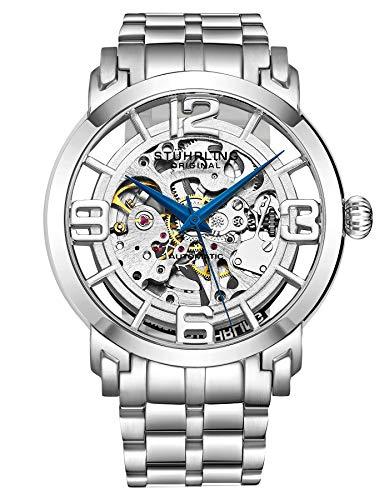 Stuhrling Original Men's Winchester 44 Elite Self Wind Silver Stainless Steel Watch