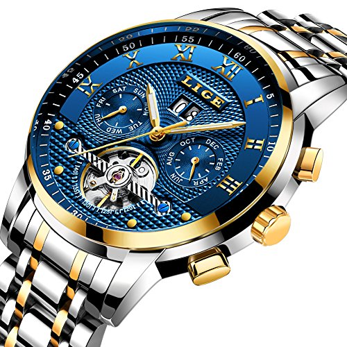 Mens Watches Top Brand Luxury LIGE Automatic Mechanical Watch