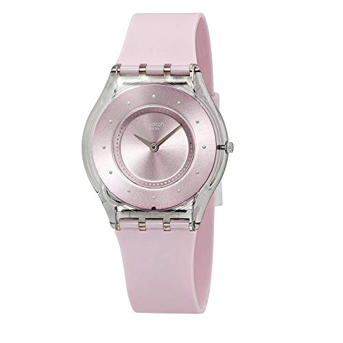 Swatch Skin Pink Pastel Pink Dial Silicone Strap Unisex Watch