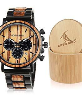 BOBO BIRD Wooden Mens Watches Large Size Stylish Wood