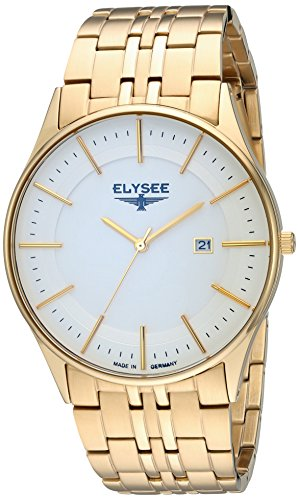 ELYSEE Men's Classic-Edition Analog Display Quartz Gold Watch
