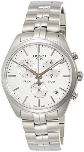 Tissot Men's 'PR 100' Quartz Stainless Steel Casual Watch, Color:Silver-Toned