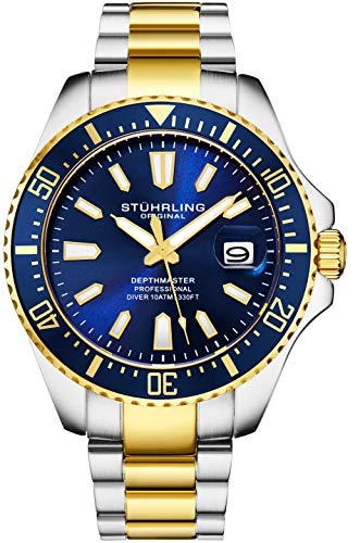 Stuhrling Original Mens Watch - Gold Tone and Stainless Steel Bracelet Watch