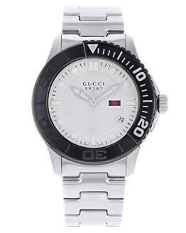 Gucci G-Sport Stainless Steel Beige Dial Quartz Men's Watch
