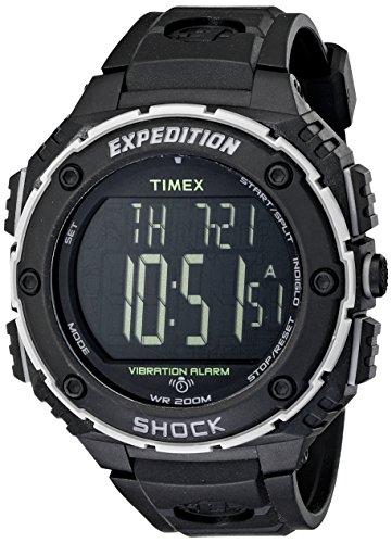 Timex Men's Expedition Shock XL Vibrating Alarm Black Resin Strap Watch
