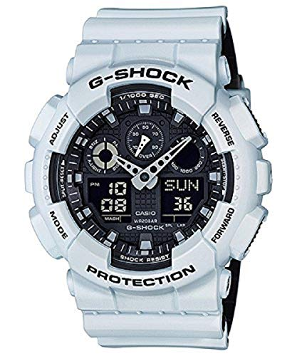 Casio G-Shock GA-100 Military Series Watches - White/One Size