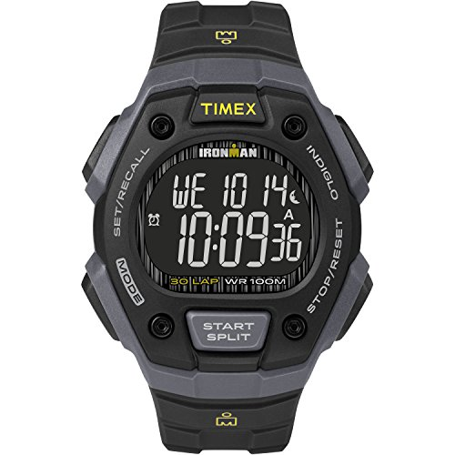 Timex Men's Ironman Classic 30 Black/Gray/Negative Resin Strap Watch
