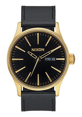 Nixon Porter Leather Modern Men's Watch (40mm. Leather Band) (Gold/Black)