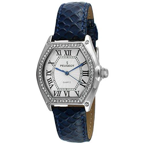 Peugeot Women's Silver-Tone Crystal Watch