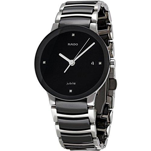 Rado Women's Centrix Black Ceramic Bracelet Watch