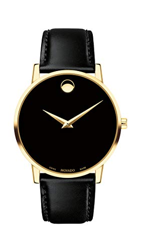 Movado Men's Museum Yellow Gold Watch with Concave Dot Museum Dial