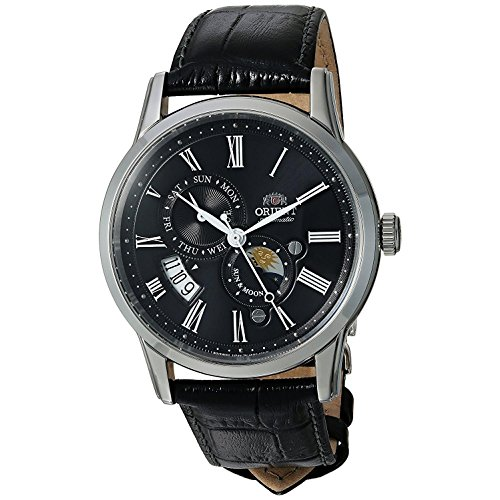 Orient Men's Sun and Moon Version 3 Stainless Steel Japanese-Automatic Watch