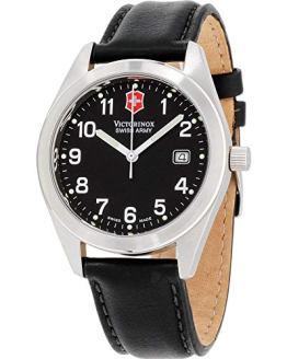 Victorinox Garrison Black Dial Leather Strap Men's Watch