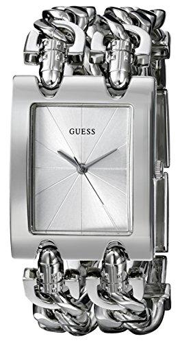 GUESS Women's Stainless Steel Multi-Chain Bracelet Watch