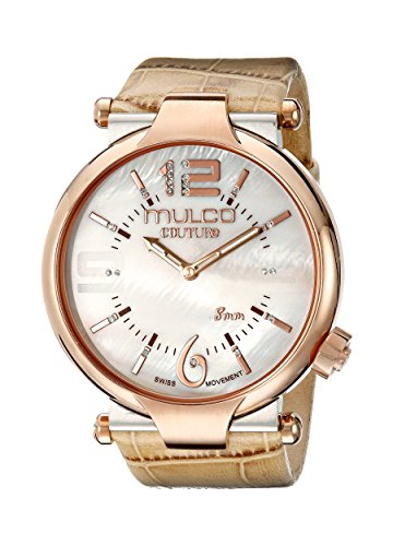 MULCO Women's 'Couture Slim' Swiss Quartz Stainless Steel and Silicone Watch