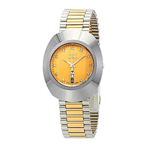 Rado Original Yellow Gold Dial Ladies Two Tone Watch