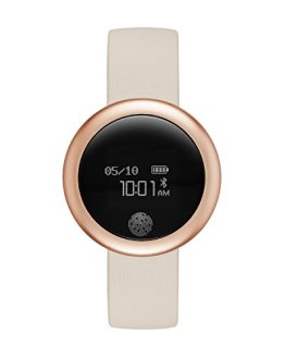 eMotion Unisex Metal and Rubber Smartwatch, Color: Rose Gold-Tone
