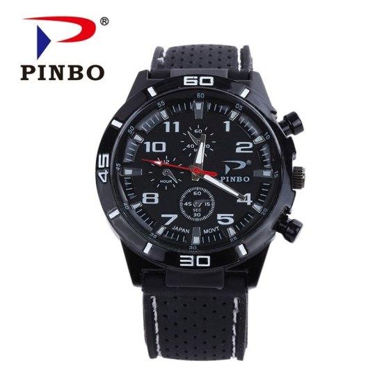 2016 New PINBO Brand Men Sports Racing Quartz Watch