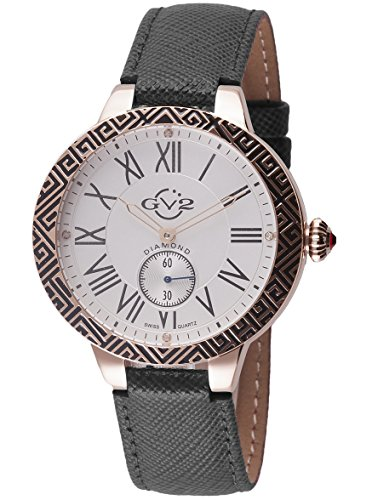 GV2 by Gevril Astor Enamel Womens Diamond Swiss Quartz Watch