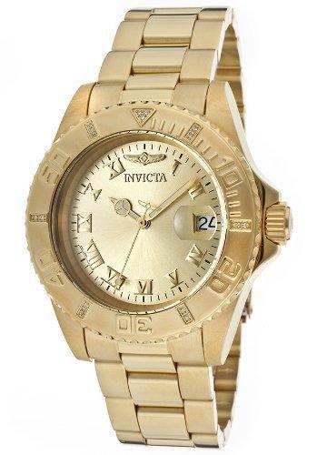 Invicta Women's Pro Diver Diamond-Accented Gold-Tone Watch