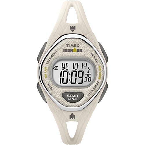 Timex Women's Ironman Sleek 50 White Silicone Strap Watch