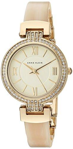 Anne Klein Women's Swarovski Crystal Accented Gold-Tone Watch