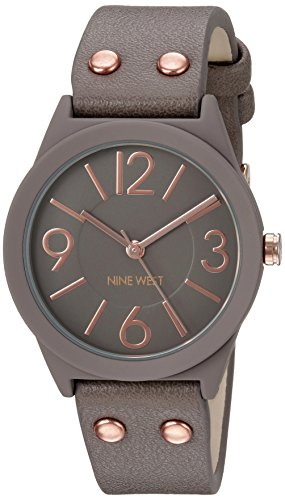 Nine West Women's Matte Taupe Rubberized Bracelet Watch