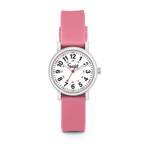 Speidel Women's Pink Scrub Petite Watch for Medical Professionals