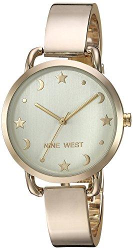 Nine West Women's old-Tone Bangle Watch