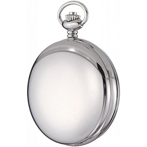 Gotham Men's Silver-Tone Double Hunter Deluxe Pocket Watch Gotham Men's Silver-Tone Double Hunter Deluxe 17 Jewel Mechanical Pocket Watch # GWC18805S