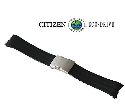 Citizen Original Replacement 23mm Black Rubber Watch Band Strap
