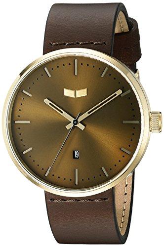 Vestal Unisex Roosevelt Leather Analog Display Quartz Brown Watch