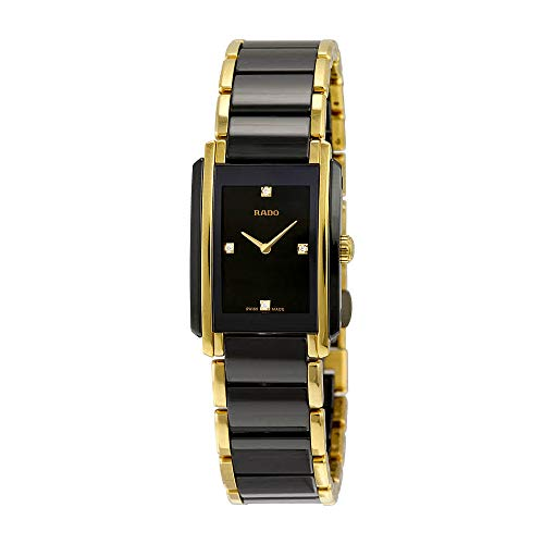 Rado Integral Jubile Two-tone Black Ceramic and Gold Womens Watch