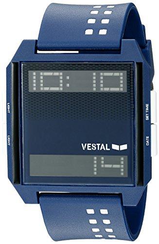 Vestal Unisex Digichord Digital Display Quartz Blue Watch