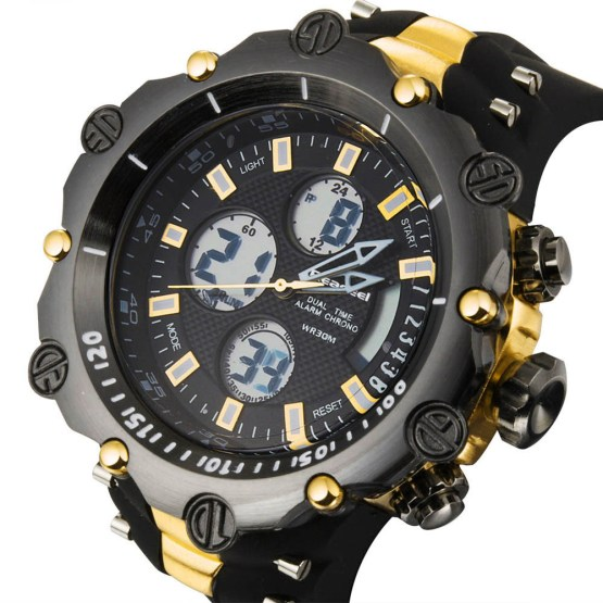 Top Luxury Brand Men Military Waterproof Rubber LED Sports Watches
