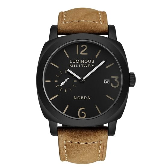 Men Watches Top Brand Luxury Leather Strap Sports Brown Army Military