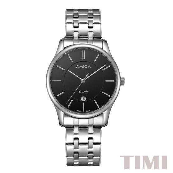 AMICA Luxury Brand Mens 2019 New Fashion Full Steel Quartz Watch