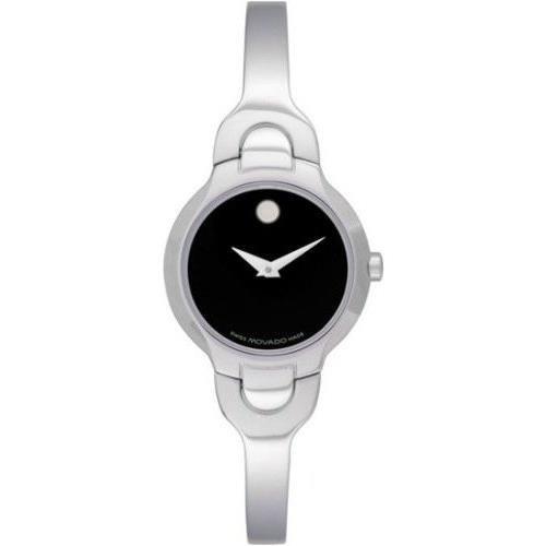 Movado Silver Steel Bracelet & Case Anti-Reflective Sapphire Women's Watch