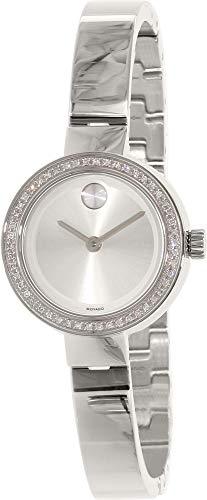 Movado Bold Women's Steel Bracelet & Case Quartz Silver-Tone Dial Watch