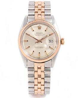 Vintage Rolex 1601 Men's 36mm Rose Gold & Stainless Steel Datejust