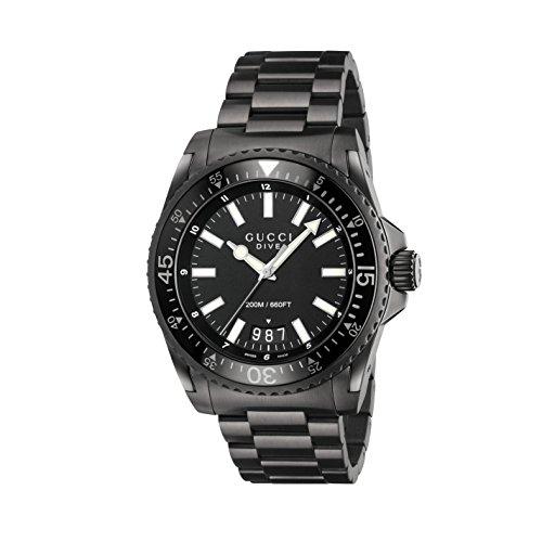 Gucci Men's Dive Watch Quartz Sapphire Crystal