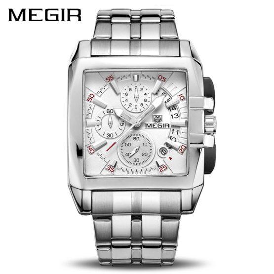 MEGIR Original Luxury Men Watch Stainless Steel Mens Quartz Wrist Watches