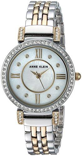 Anne Klein Women's Swarovski Crystal Accented Two-Tone Bracelet Watch
