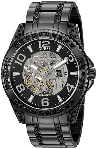 GUESS Men's Stainless Steel Oversized Casual Crystal Watch