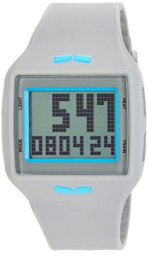 Vestal 'Helm' Quartz Plastic and Polyurethane Casual Watch, Color:Grey
