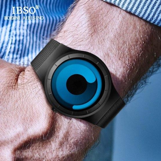 IBSO Creative Men Watches Luxury Silver Wrist Watch