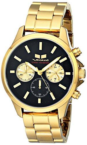 Vestal Unisex Heirloom Chrono Analog Display Analog Quartz Gold Watch
