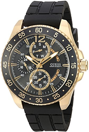 GUESS Men's Sporty Gold-Tone Stainless Steel Watch