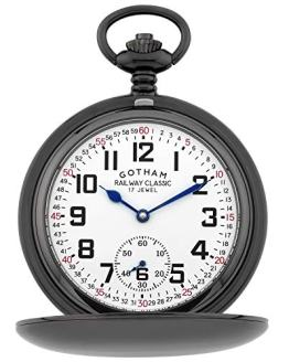 Gotham Men's Mechanical Pocket Watch