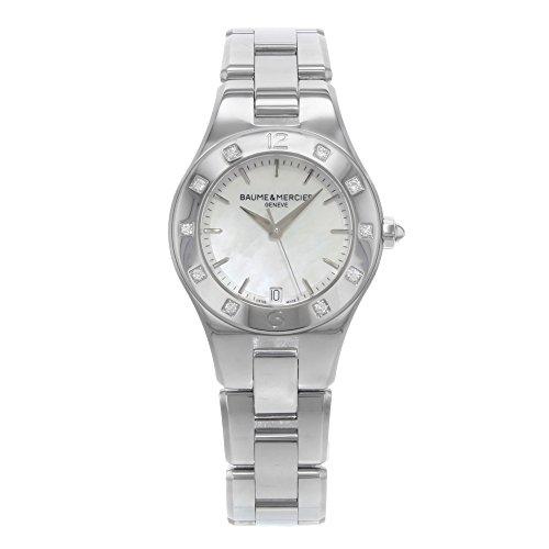 Baume & Mercier Women's Linea Analog Display Swiss Quartz Silver Watch